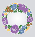 floral frame with space for text vector image vector image