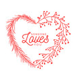 flower heart valentine day hand drawn hearts with vector image vector image