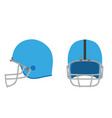 football helmet american icon equipment isolated vector image