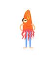 freak man character in funny costume freaky vector image vector image