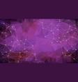 geometric purple polygonal background molecule vector image vector image