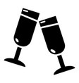 glasses champagne icon simple style vector image vector image