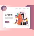 graffiti website landing page design vector image vector image