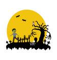 halloween zombie vector image vector image