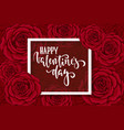happy valentine s day hand drawn brush pen vector image vector image