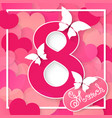 happy women s day 8 march holiday background vector image vector image