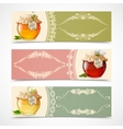 Honey banners horizontal vector image vector image