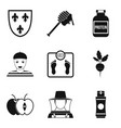 honey field icons set simple style vector image vector image