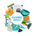 house cleaning service home laundry and housework vector image vector image
