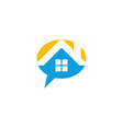 house talk logo vector image