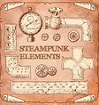 Industrial Victorian style grunge Steampunk design vector image vector image