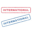 international textile stamps vector image vector image