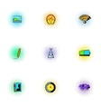 Internet icons set pop-art style vector image vector image