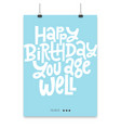 Irreverent birthday poster with hand drawn