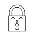kawaii padlock cartoon vector image vector image