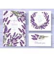 lavender invitations set vector image vector image
