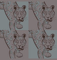 leopard modern seamless pattern vector image