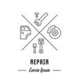 line banner repair vector image