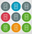 line icons set For web site design and mobile apps vector image