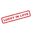 Lucky In Love Text Rubber Stamp vector image vector image