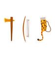maya civilization symbols set ancient weapon axe vector image vector image