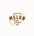 melon farm abstract sign symbol or logo vector image vector image