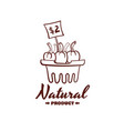 natural product monochrome emblem vector image vector image