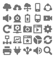 Network Technology Icons 2 vector image vector image
