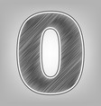 number 0 sign design template element vector image vector image