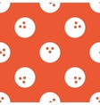 Orange bowling pattern vector image vector image