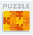 Puzzle pieces twelve vector image