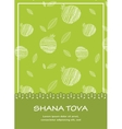 Rosh Hashanah background with pomegranates Happy vector image vector image