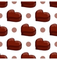 Seamless pattern with chocolate heart vector image vector image