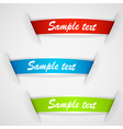 set of multicolored stickers vector image vector image