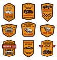 set taxi service emblems design element for vector image vector image