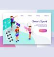 smart gadget for sport isometric website vector image