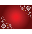 snowflakes and stars border vector image