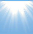 solar light effect golden glow of sun vector image vector image