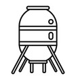 space capsule icon outline style vector image vector image