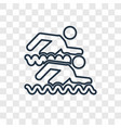 swimmers concept linear icon isolated