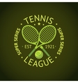 Tennis League super series label badge for your vector image vector image