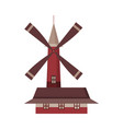 traditional ancient windmill building rural vector image vector image