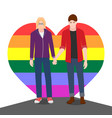 two men hold hands they are gay vector image