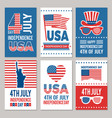 usa independence day cards template of various 4 vector image vector image