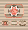 Vintage label Style with four Design Element vector image vector image