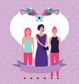 women day cartoon vector image