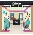 Women Fashion Shop Sale Window display vector image