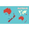 world map australia vector image vector image