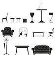 furniture silhouette set vector image