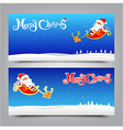 034 Merry Christmas banner Collection of greeting vector image vector image